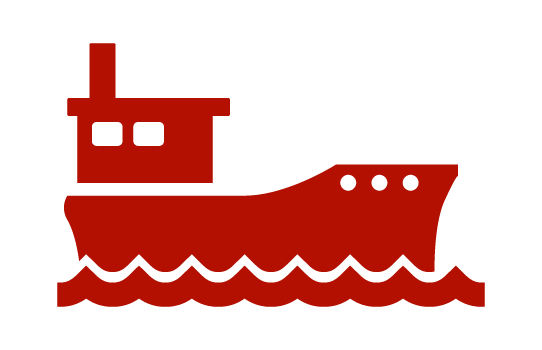 Red Boat on Water icon
