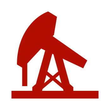 Red Crude Oil Icon
