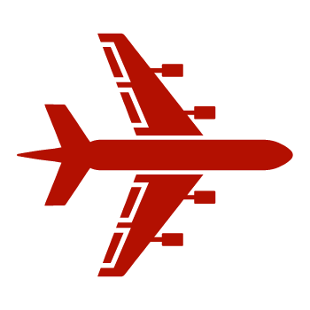 Red Airplane Icon