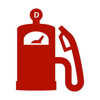 Red Diesel Pump Icon
